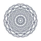 Contemporary doily round lace floral pattern Stock Photography