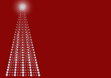 Contemporary dot christmas tree. Contemporary christmas tree made entirely of dots, red card Royalty Free Stock Image