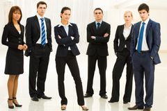 Contemporary employees Stock Image