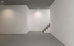 Contemporary empty gallery space Stock Photo