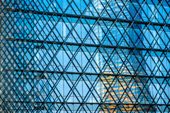 Contemporary facade construction Stock Image