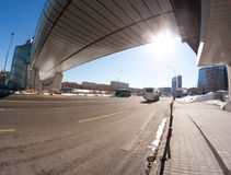 Contemporary flyover Moscow landmark Stock Photos