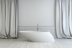 Contemporary freestanding bath tub in a bathroom Royalty Free Stock Photography