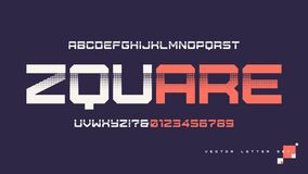 Free Contemporary Geometric Uppercase Letter Set, Vector Alphabet, Typography Stock Images - 182136264