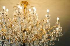 Contemporary glass chandelier Royalty Free Stock Image