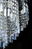 Contemporary glass chandelier closeup Royalty Free Stock Photos