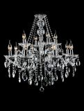 Contemporary glass chandelier Royalty Free Stock Photography