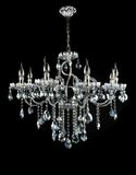 Contemporary glass chandelier Royalty Free Stock Photo