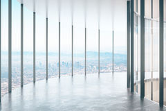 Contemporary glass corridor Royalty Free Stock Images