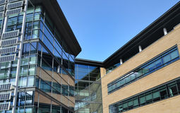 Contemporary Glass Office Building on Business Park Stock Image