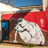 Contemporary graffiti art on city walls. Royalty Free Stock Photography