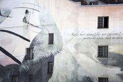 Contemporary graffito in Vice Riga. RIGA, LATVIA - AUGUST 28: Contemporary graffito in Vice Riga  on August 28, 2014 in Riga Stock Photography
