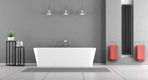 Contemporary gray bathroom Royalty Free Stock Photo
