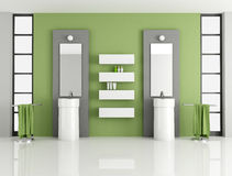 Contemporary green bathroom Royalty Free Stock Photos