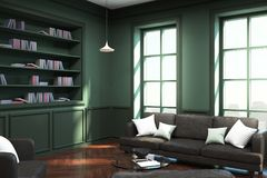 Contemporary library interior vector illustration