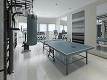 Contemporary gym interior Stock Photo