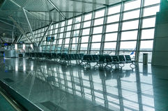 Contemporary hallway of airport Stock Photo