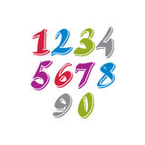 Contemporary handwritten vector digits. Stock Photography