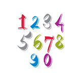 Contemporary handwritten vector digits, vector numerals Stock Photography