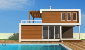 Contemporary holiday villa Royalty Free Stock Photography