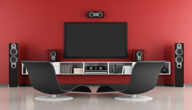 Contemporary home cinema Royalty Free Stock Images