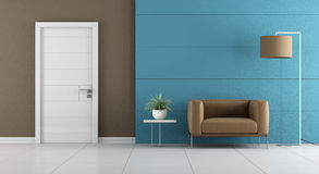 Contemporary home entrance Stock Image