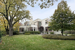 Contemporary home in fall Stock Images