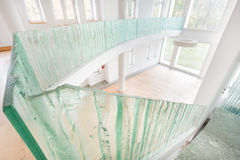 Contemporary home with glass elements Stock Photography