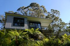 Australia: modern house in bush Stock Photos