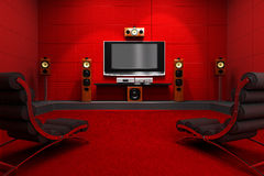 Contemporary Home Theater Stock Images