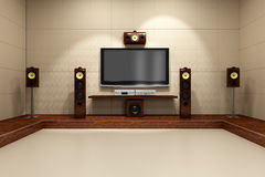 Contemporary Home Theater System stock illustration