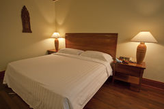 Contemporary Hotel Bedroom. In hotel Stock Photo
