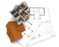 Contemporary house Stock Images