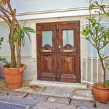 Contemporary house entrance Royalty Free Stock Photography