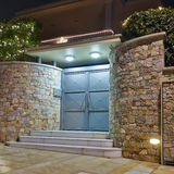 Contemporary house entrance, Athens  Greece Royalty Free Stock Images