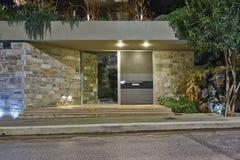 Contemporary house entrance, Athens  Greece Royalty Free Stock Photo