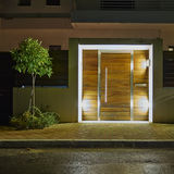 Contemporary house entrance night view Stock Photography