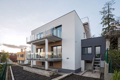 Contemporary house exterior royalty free stock images
