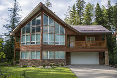 Contemporary houses in ski resort Stock Photography