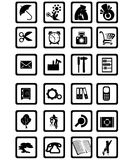 Contemporary Icons. Black over white Royalty Free Stock Photos