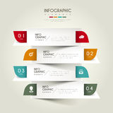 Contemporary infographic design. With colorful labels elements Royalty Free Stock Photo