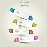 Contemporary infographic design. With colorful labels elements Stock Photography