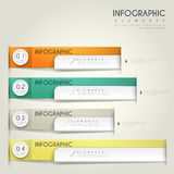 Contemporary infographic design. With colorful labels elements Royalty Free Stock Photography