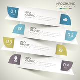 Contemporary infographic design. With colorful labels elements Stock Photos
