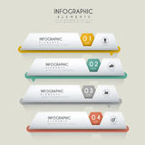Contemporary infographic design. With file tags elements Stock Image