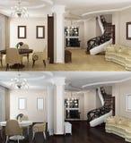 Contemporary Interior Royalty Free Stock Photography