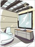 Contemporary interior doodles. Stock Photos