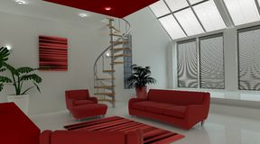 Contemporary interior living space Royalty Free Stock Images