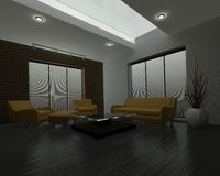 Contemporary interior living space Stock Photo