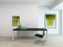 Contemporary interior of an office or a study room Stock Photography